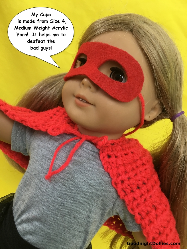 Doll Lover's Guide to Crochet 101 - Acrylic Yarn Example