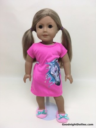 MLA Clothes on AG Dolls - AG in Nightshirt, front