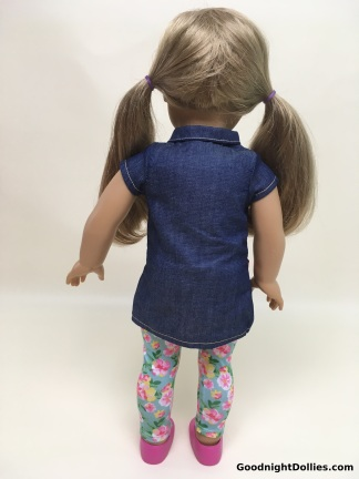 MLA Clothes on AG Dolls - AG in Shirt & Leggings, back