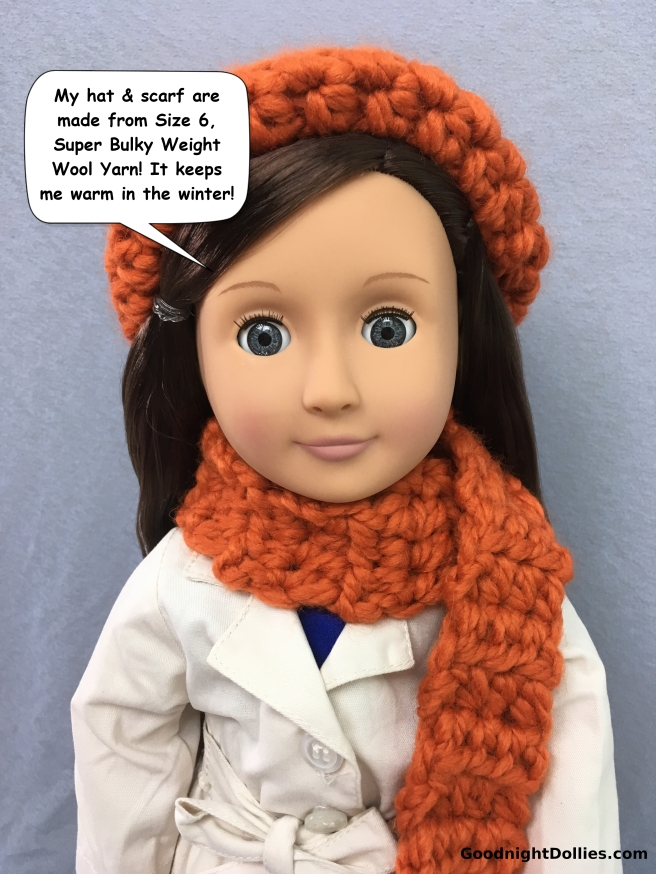 Doll Lover's Guide to Crochet 101 - Wool Yarn Example